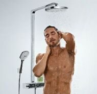 Душевая система Hansgrohe Raindance Select Showerpipe E300 2jet (хром) 27128000